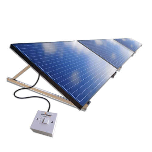 Plug-In Solar 750W DIY Solar Power Kit with Adjustable Mounts (for Ground or Flat Roof)