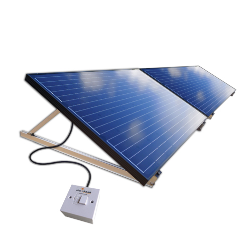 Plug-In Solar 500W DIY Solar Power Kit with Adjustable Mounts (for Ground or Flat Roof)