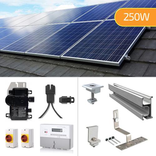 Plug In Solar 250W New Build Developer Solar Power Kit for Part L Building Regulations