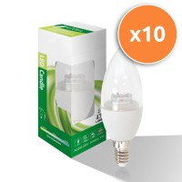 6W E14 LED Clear Candle Bulb 470Lm 4000K