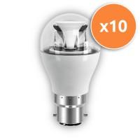 B22 LED 6.5W Globe Clear Bulb