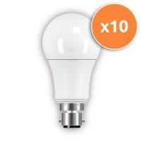 B22 LED 9W Globe Opal Bulb