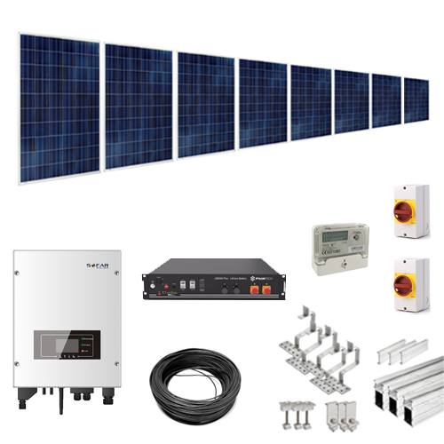 3kW Hybrid Solar Battery Kit