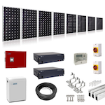 4kW Hybrid Solar Kit with Battery Storage