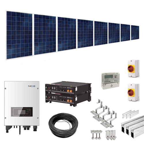 3.75kW Hybrid Solar Battery Kit