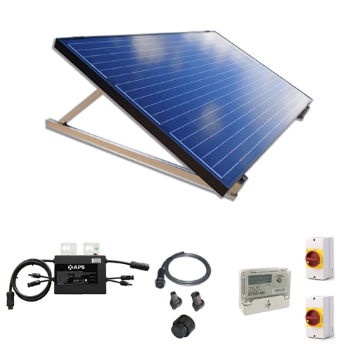 250W New Build / Developer Solar Kit with Adjustable Ground Mounts