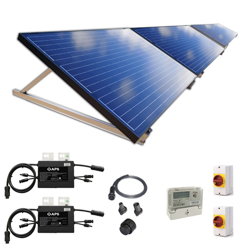 750W New Build / Developer Solar Kit with Adjustable Ground Mounts