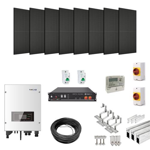 Plug In Solar Hybrid Solar PV Kit with Lithium Ion Battery Storage