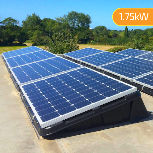 1.75kW (1750W) Flat Roof Mount DIY Solar Kit