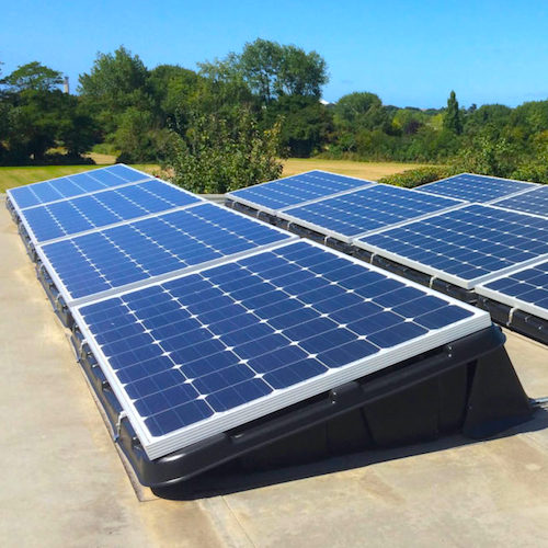 Plug In Solar Flat Roof Mount Kit