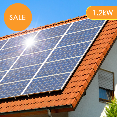 Plug-In Solar 1.2kW (1200W) DIY Solar Power Kit with Roof Mount (For Tile or Slate Roofs)