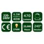 6.5W E14 LED Opal Candle Bulb 470Lm 2700K