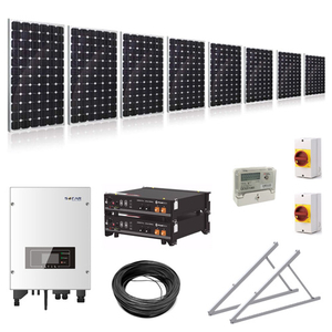 3.75kW (3750W) Hybrid Solar Power Kit with 4.8kWh Battery Storage with Adjustable Ground Mounts