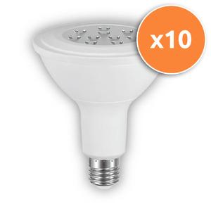 Pack of 10 - 20W PAR38 E27 LED Lamp 1200Lm 3000K
