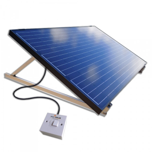 Plug-In Solar 250W DIY Solar Power Kit with Adjustable Mounts (for Ground or Flat Roof)