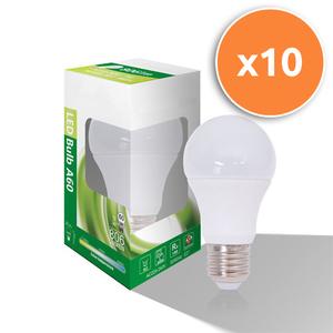 Pack of 10 - 9W E27 LED Opal Globe 806Lm 3000K