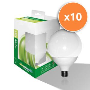Pack of 10 - 21W E27 LED Opal Globe 1,800Lm 3000K