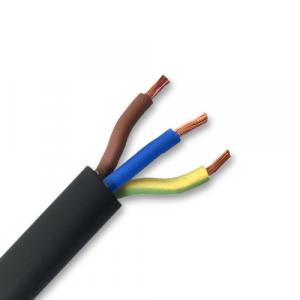 6mm² 3 Core Rubber Flexible AC Cable (Per Metre)