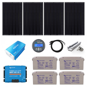 1.2kW Complete Off Grid Solar Charging Kit with 4.6kWh AGM Batteries (24V)