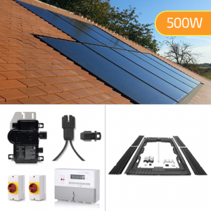 Plug-In Solar 500W New Build In-Roof (BIPV) Solar Power Kit for Part L Building Regulations