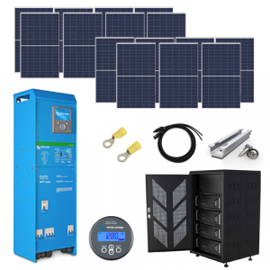 4.125kW Complete Off Grid Solar Kit with 10kWh Lithium Batteries (48V)