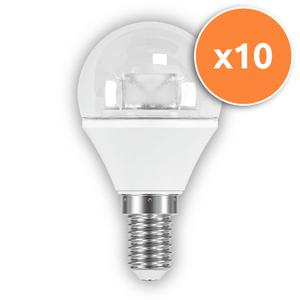 Pack of 10 - 3.8W E14 LED Clear Mini Globe 250Lm 2700K