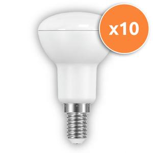 Pack of 10 - 6W R50 E14 LED Opal Spotlights 430Lm 2700K