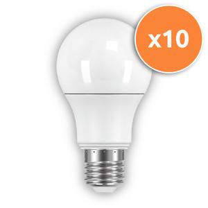 Pack of 10 - 6.3W GLS E27 LED Opal Globe 470Lm 2700K