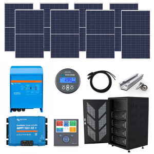 2.2kW Complete Off Grid Solar Kit with 5kWh Lithium Batteries (48V)