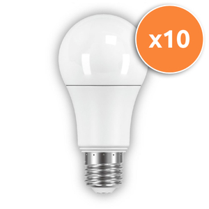 Pack of 10 - 10.5W GLS E27 LED Opal Globe 806Lm 2700K