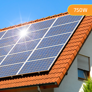 Plug-In Solar 750W DIY Solar Power Kit with Roof Mount (For Tile or Slate Roofs)