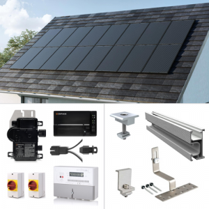 Plug-In Solar 1.28kW (1280W) New Build Developer Solar Power Kit for Part L Building Regulations